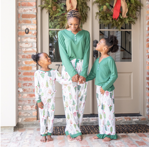 Youth Treeful Ruffle Pajama Pants