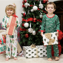 Load image into Gallery viewer, Toddler Treeful Holiday Pajama Set