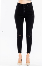 Load image into Gallery viewer, Black High Rise Distressed Denim Pants