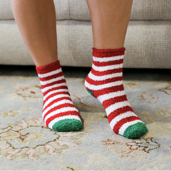 Cozy Holiday Stripe Socks