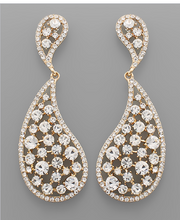 Load image into Gallery viewer, Tayshia Crystal Tear Drop Earrings