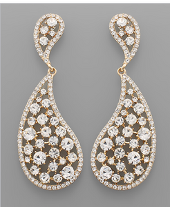 Tayshia Crystal Tear Drop Earrings