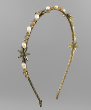 Load image into Gallery viewer, Crystal Starburst Beaded Headband