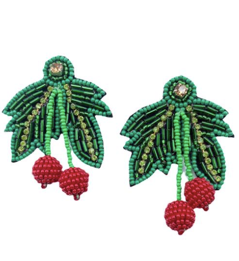 Mistletoe Beaded Earrings