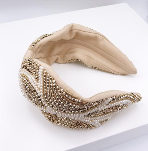 Diane Pearl Beaded Headband