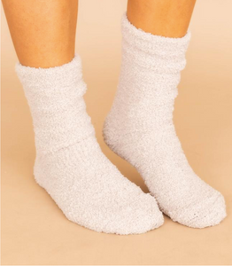 Cozy Cream Chenille Socks