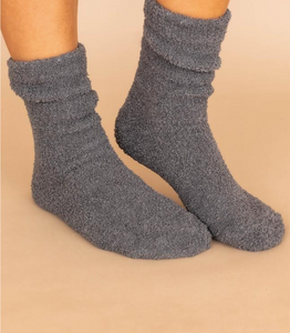 Cozy Charcoal Chenille Socks