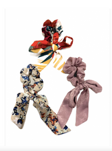 Load image into Gallery viewer, Small Hair Scarf Scrunchies