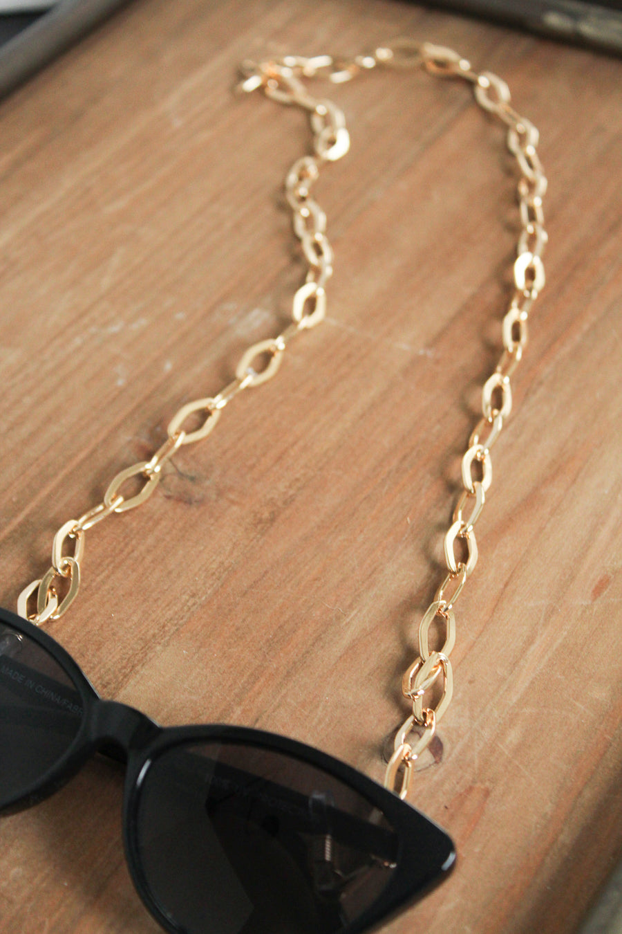 Sunglasses Gold Link Chain
