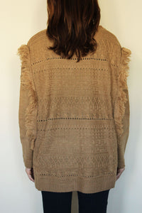 Fringe Benefits Caramel Sweater
