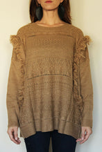 Load image into Gallery viewer, Fringe Benefits Caramel Sweater