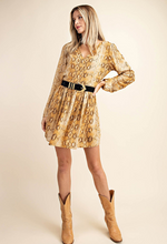 Load image into Gallery viewer, All Into Fall Python Print Dress