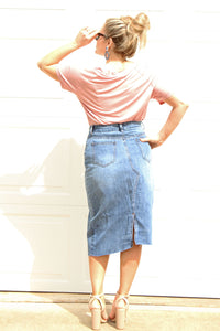 Demi Asymmetrical Denim Skirt