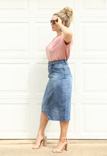 Load image into Gallery viewer, Demi Asymmetrical Denim Skirt