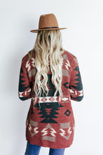 Load image into Gallery viewer, Aztec Brick Chenille Cardigan