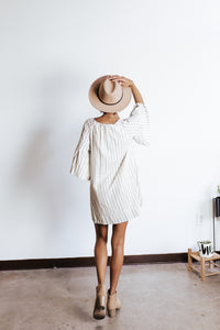 Mallory Bell Sleeve Linen Dress