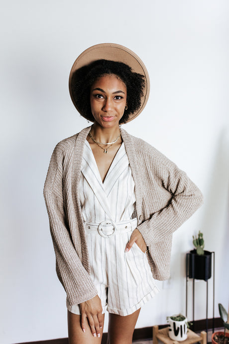 A Latte Button Cardigan