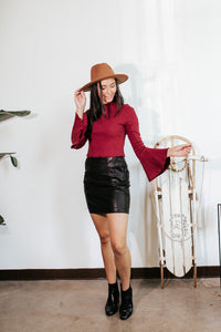 Tay Faux Leather Mini Skirt
