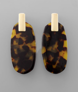 Betsy Tortoise Earrings