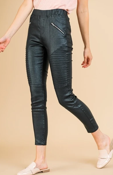 Bethany Black Motto Leggings