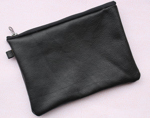 Leather Zipper Pouch Wrist-let