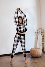Load image into Gallery viewer, Buffalo Plaid Teddy Lounge Joggers