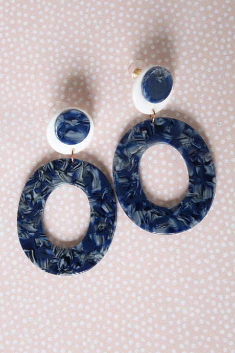 Blue Jean Babe Acrylic Earrings