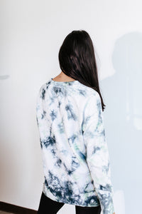 Blue Green Tie Dye Sweater
