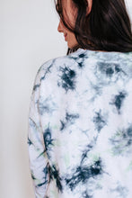 Load image into Gallery viewer, Blue Green Tie Dye Sweater