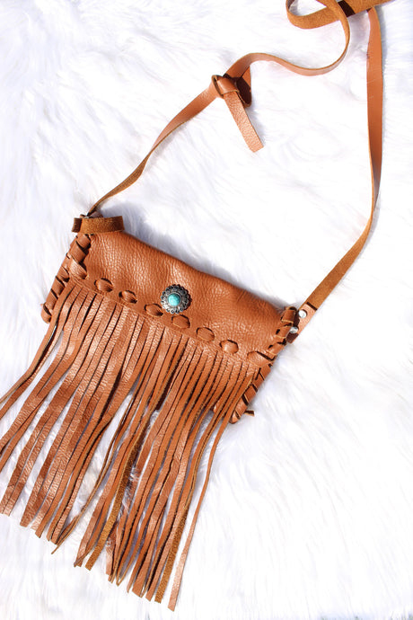 Bohemian Fringe Leather Crossbody Handbag