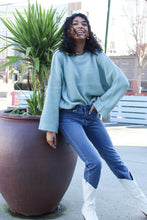 Load image into Gallery viewer, Bre Teal Waffle Knit Sweater