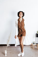 Load image into Gallery viewer, Fall Brown Zip Front Romper
