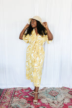 Load image into Gallery viewer, Yellow Palm Shirt Dress
