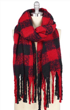 Load image into Gallery viewer, Buffalo Plaid Over-sized Scarf