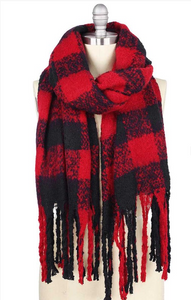 Buffalo Plaid Over-sized Scarf