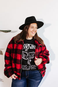 Buffalo Plaid Teddy Jacket