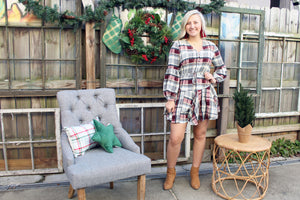 Apple Orchard Plaid Dress