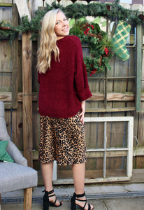 Berry Chenille Sweater