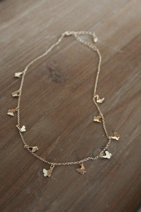 Butterflies Gold Dainty Necklace