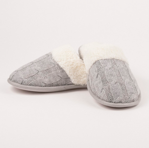 Cable Knit Cozy Slippers