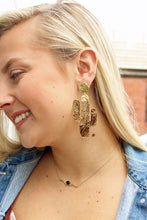 Load image into Gallery viewer, Cactus Gold Earrings