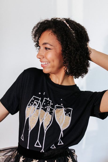Champagne Toast Graphic Tee