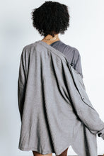 Load image into Gallery viewer, Charcoal Waffle Knit Button Top