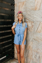Load image into Gallery viewer, Charlotte Chambray Romper
