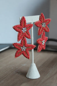 Coral Starfish Earrings