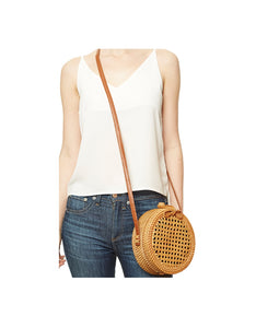 It Bag - Circle Rattan Cross-body Purse
