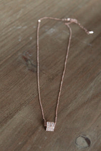 Cubed Stone Necklace
