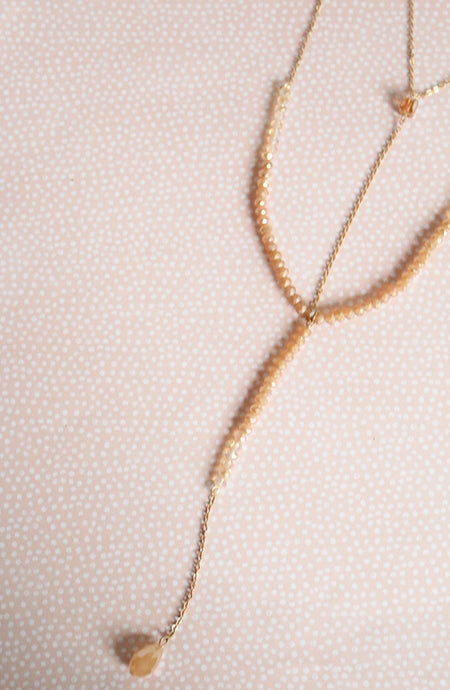 Delicate Y Drop Layered Necklace