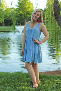 Denim Chambray Sundress