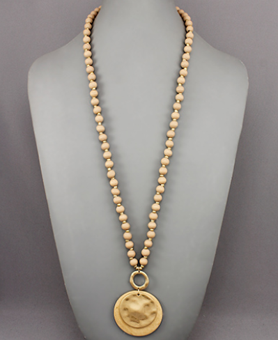 Layered Disc Bead Necklace